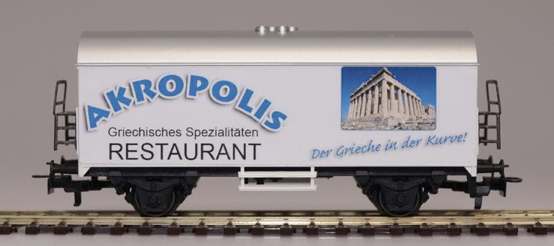 Sponsorenwaggon des Restaurant Akropolis